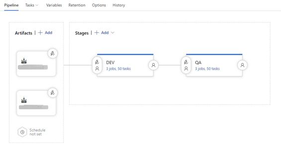 Azure DevOps Pipeline stages screenshot