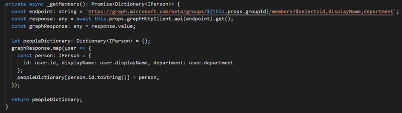 Calling the new Presence endpoint in MS Graph API from SPFx 8