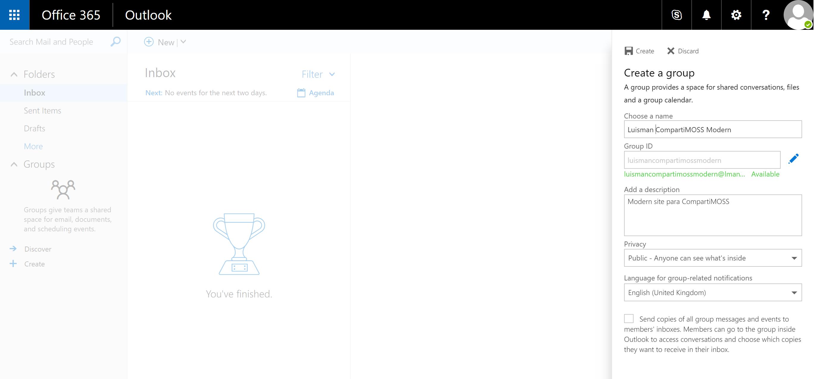 Create a Modern Team Site