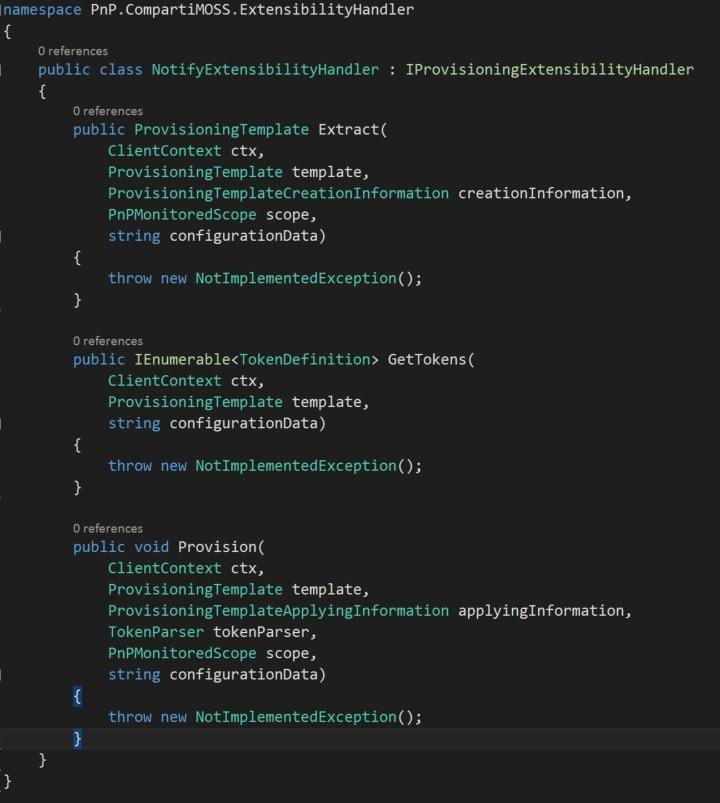 Extensibility Handler Code 1