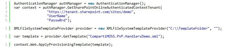 Extensibility Handler Code 8