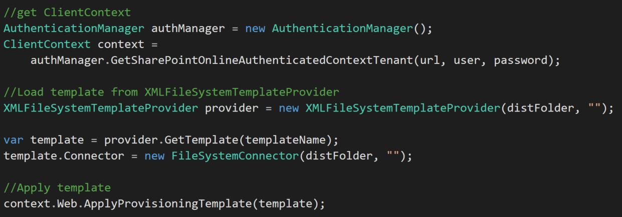 PnP Framework code snippet