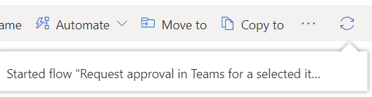 Power Automate Teams Confirmation