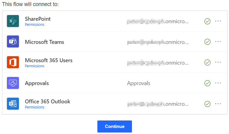 Power Automate Teams Connect flow to SharePoint