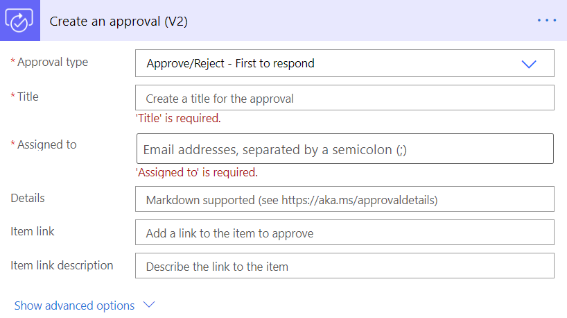 Power Automate Teams Create an approval