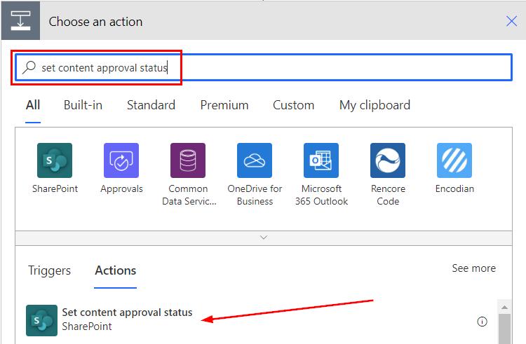 Power Automate Teams Set content approval status