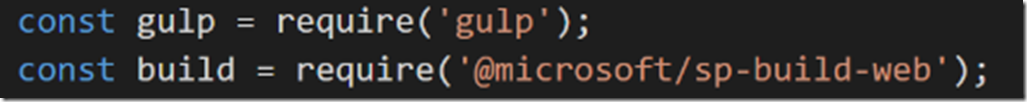 SharePoint framwork Gulp 2