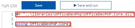 Using OfficeDevPnP code