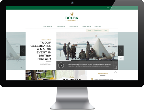 SharePoint intranet for Rolex