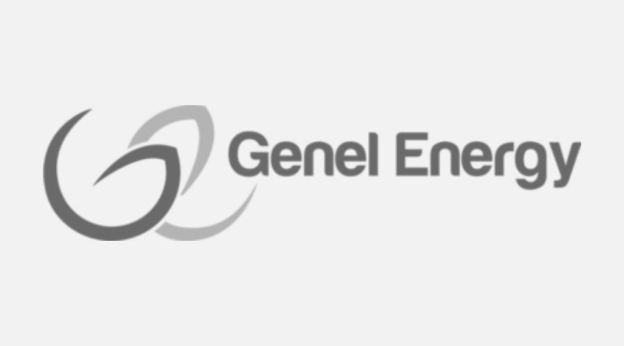 Genel Energy greyscale logo