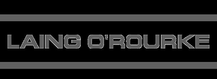 Laing ORourke logo greyscale 2