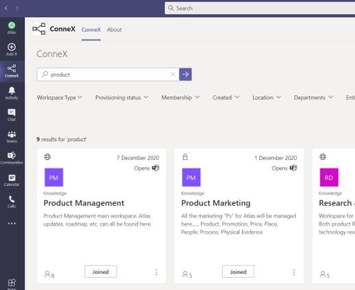 Atlas ConneX - Microsoft Teams screenshot