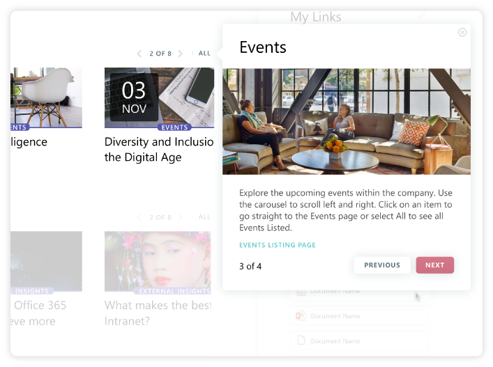 The Tour - Showing Tour Card on Events Carousel V2
