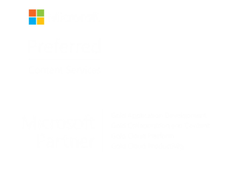 Microsoft Gold Partner and Preferred Content Services (Project Cortex) member