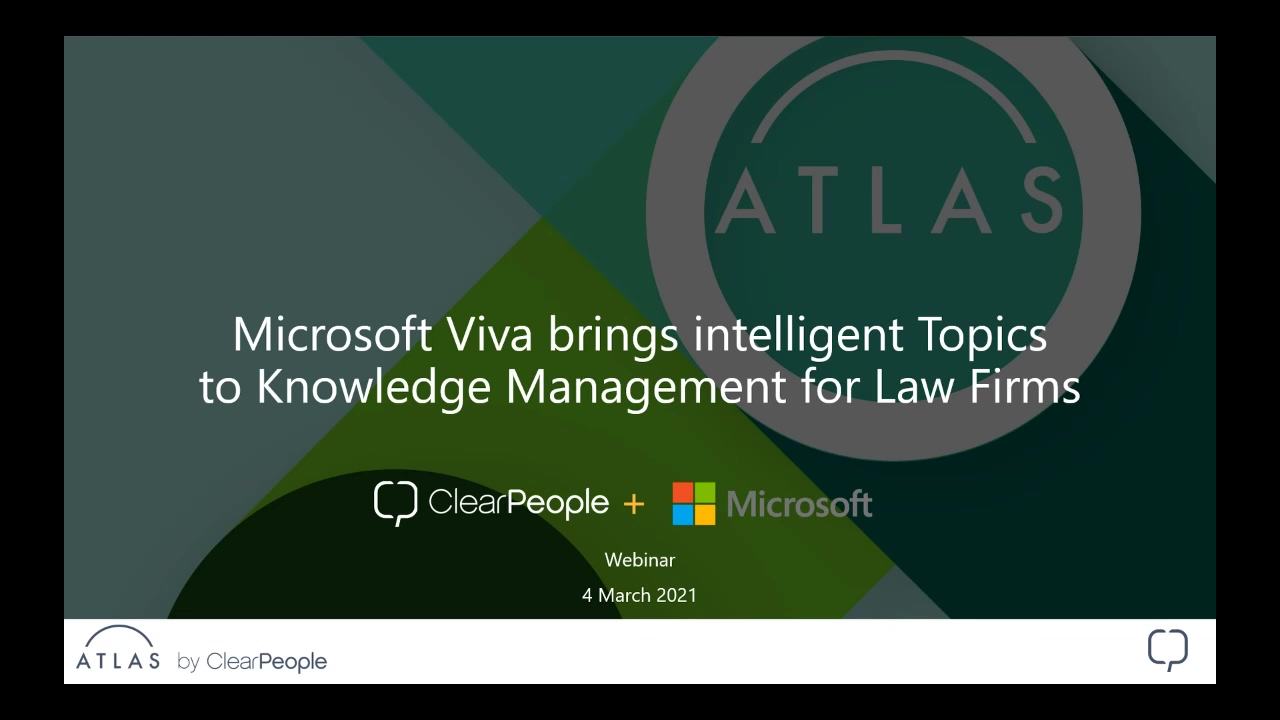 2021-03-04 Webinar Recording - Microsoft Viva brings intelligent Topics to Knowledge Management for-thumb