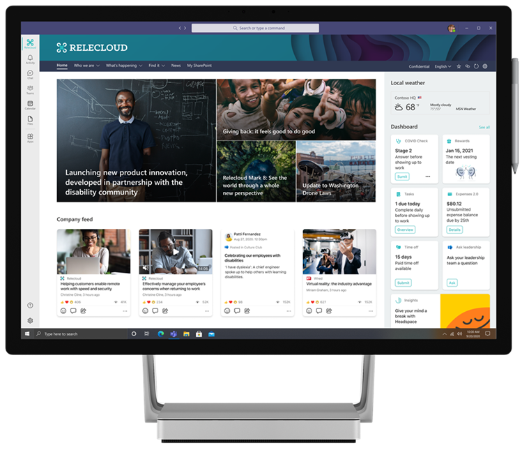 Microsoft Viva Connections desktop experience