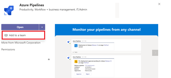 Adding Azure DevOps release notifications to Microsoft Teams