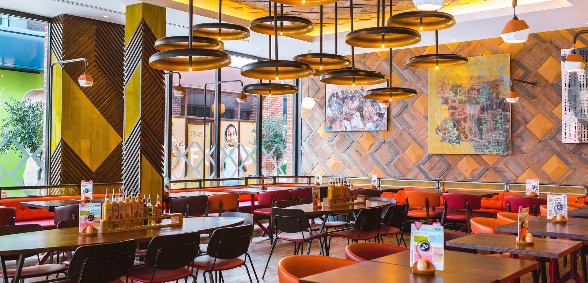 Nandos restaurant inside
