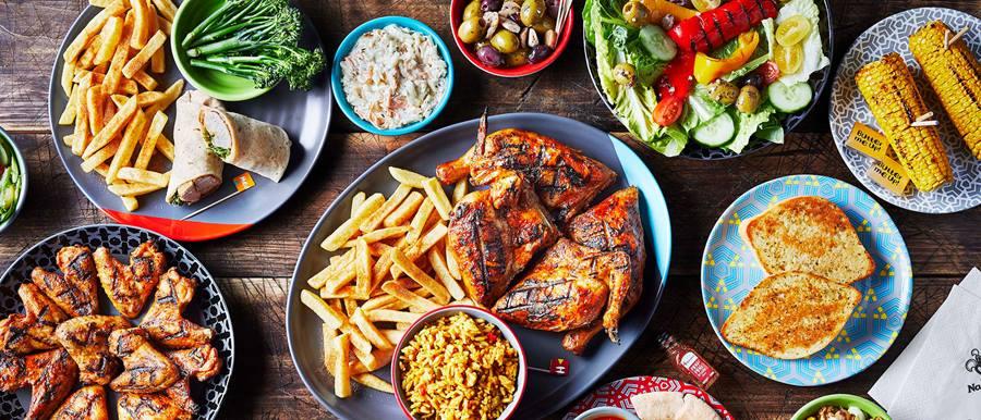 Nando's food on plates