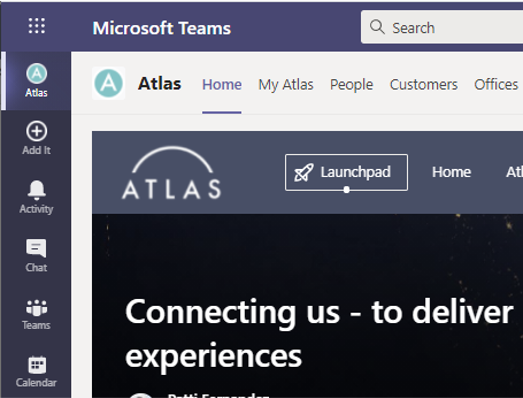 Atlas screenshot Atlas in Teams